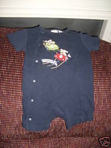 Blue Two Puppies Racing Romper Size 0/3 Months Boy's EUC - $25.99