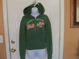 Hollister Green Zip Up Hoodie Size Small Women's EUC - $22.40