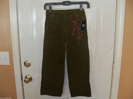 OshKosh B'gosh Olive Green Corduroy Pants Size 7 Girl's NEW LAST ONE - $32.99