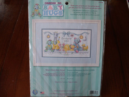 Dimensions Baby's Friends Birth Record Counted Cross Stitch NEW LAST ONE  - $34.99