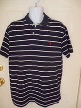 Polo By Ralph Lauren Navy Blue W/White Stripes Size Large Men's EUC  - $39.99
