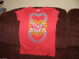 The Children's Place Hearts in Chains Orange TShirt Size 10/12 Girls EUC - $28.99