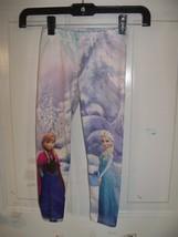 Disney Frozen Anna & Elsa Legging Size 4 Girls EUC - $15.80