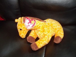 TY Beanie Baby Twigs the Giraffe Retired PVC Pellets NEW LAST ONE  - $55.99