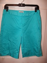 MICHAEL Michael Kors Stretch Light Blue Bermuda Dress Shorts Size 4 $100... - $30.24
