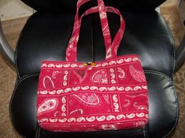 Vera Bradley Mesa Red Handbag Retired July 2008 EUC - $32.00