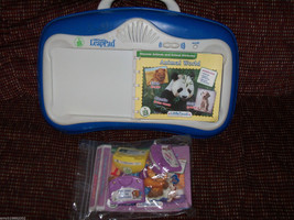 Leap Frog Little Touch Leap Pad With 3 books and cartridges EUC - $38.49