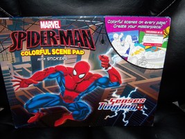 Marvel Spider-Man Colorful Scene Pad With Stickers New No Longer Sold - $34.99