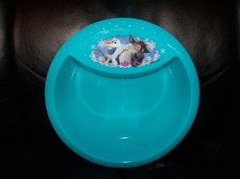 DISNEY FROZEN OLAF & SVEN  PLASTIC TEAL BOWL NEW - $10.79