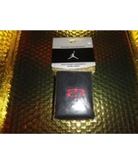 Nike Jordan tennis wrist band in Black with Red Embroidered Logos - $16.10