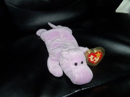 Ty Beanie Babies HAPPY the Hippo P.V.C. PELLETS NEW LAST ONE  - $38.99