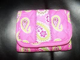 Vera Bradley Bermuda Pink Pocket Wallet Retired Euc - $21.60