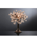 Transparent flowers Table Lamp with metal wires, small table lamp, clear... - $160.00