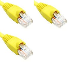 Ultra Spec Cables Pack of 3 - Yellow 1FT Cat6 Ethernet Network Cable LAN Interne - $29.97