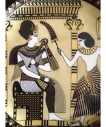 """BEAUTIFUL Pâte et émail Limoges Gold Black 3 3/4 """" Plate, Fathi Mahmoud,... - $17.81"""