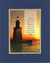 God will wipe every tear from their eyes . . . 8 x 10 Inches Biblical/Religio... - $10.39