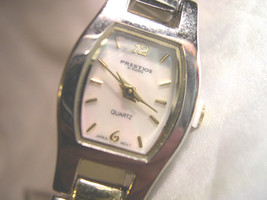 "L19, Prestige by ELGIN, Ladies 7.5"" Two Tone Bracelet Watch, Pearly Face  w/b - $41.59"