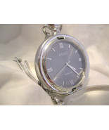"""M12, Relic Mens Pocket Watch, Silver Tone, 14"""" Chain  w/b  (engraved S.N... - $19.79"""