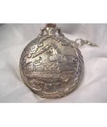 "M12, Brut Mens Pocket Watch, Locomotive Engraving, Silver Tone, 14"" Chain - $29.79"