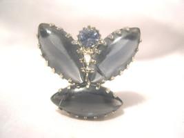 "E14, Stunning Dark Crystals - CLIP ON Earrings - 3/4"" lgth - $9.89"