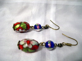 E03, Painted French Beads on  Pierced Earrings! - $5.93