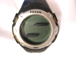"M10, Fossil Mens Sports Watch, 9"" Black/Gray Silicon Band, dq 1104 - $29.75"
