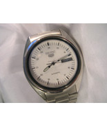 M07, Seiko 5 Automatic, 7009, 3040, Silver Tone Watch, Day Date - $299.19