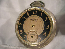 M07, Everbrite Captains Mens Pocket Watch, Vintage - $23.75