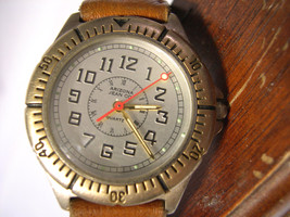 """M07, Arizona Jean Co., Mens Watch, Silver Face, 8.5"""" Leather Band - $22.87"""