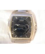 M13, Casio Edifice Mens Black Faced Watch, Adj. Link  Band, efa 120 - $39.59
