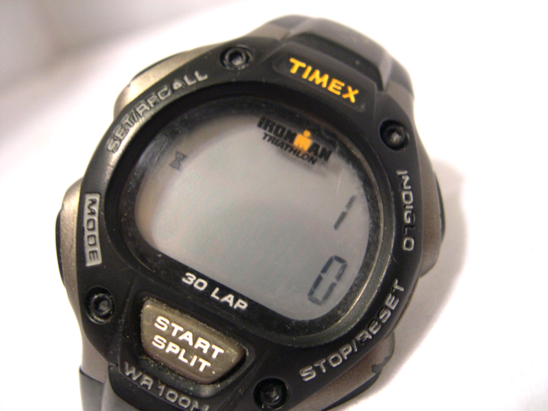"M14, Timex Ironman Triathlon, Black & Gray, 10"" Blk Silicon Band, Indiglo - $29.69"