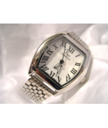 """M15, Time America by Wells Fargo Bank, Silver Tone w/ White Face, 8"""" Band - $19.79"""