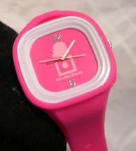"L09, Hot Pink Ladies Wrist Watch, 9"" Soft Silicon Band, the oaks online w/b - $11.87"