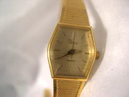 "L52, Timex Ladies Gold Tone Dress Watch, 7"" Adj. Band, Hexagonal Face, P... - $29.79"