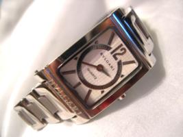 "L20, Bulgari Rettangolo, Ladies 6.5"" Watch, Silver Tone Links, rt455, L3015 - $395.99"