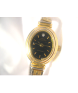 L45, Sarah Coventry Supreme, Ladies Black Face w/ Crystal Watch, Flex Band - $15.83