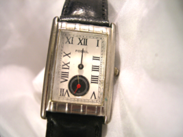 "L07, Fossil White Faced Ladies Watch, Roman Numerals, 8.5"" Leather Band - $19.79"