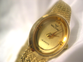 "L45, Waltham Ladies Dress Watch, Gold tone Body & Face, 8"" Adj. Band, WL 800-040 - $39.99"