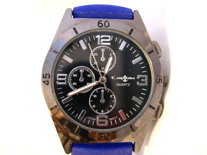 "Primary image for L21, Collezio Captain, Unisex Watch, Soft 9.5"" Purple/Blue Band, w/b"