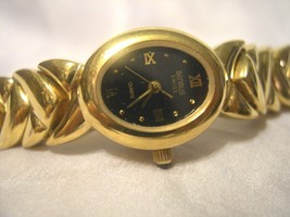 "L20, Benrus, Ladies Black Faced 6"" Watch. Uniqu... - $39.59"