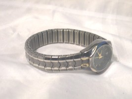 L02, Cerentino Ladies Watch, Black & Silver Tone Flex Band - $22.79