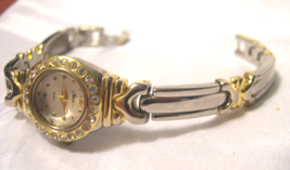 "L02, Cherish, Ladies Watch, 7"" Two Tone Bracelet Band  w/b - $19.79"