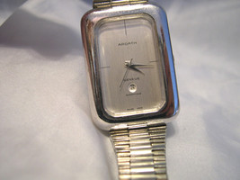 "L24, Ardath, Ladies 7"" Silver Watch,  Perpetual Movement, day/date, Working - $494.99"