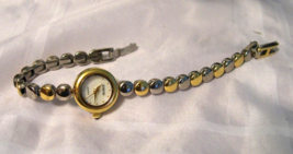 """L11, Rumours, Ladies Watch, White Face, 7.5"""" Two Tone Bracelet Band  w/b - $15.87"""