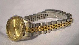L24, Sarah Coventry Ladies Two Tone Watch, Date, LSC 014   - $22.50