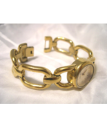 "L49, Nine West, Ladies Gold Tone Watch, 6.5"" Bracelet Band, NW/1136   w/b - $19.79"
