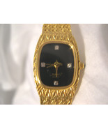 "L03, Xavier Ladies 8"" Dress Watch, Black Face, Crystal Accents, swc p498 - $29.69"