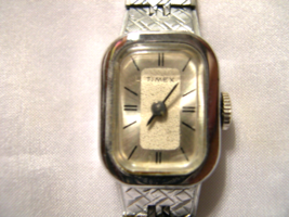"""L53, Timex, Silver Tone Ladies Watch with Small Face and Slender 6"""" Band - $17.83"""
