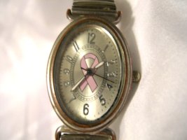 L08, Concepts, Ladies Wrist Watch with Pink  ..  Cure of Cancer ..  Ribbon  w/b - $7.91