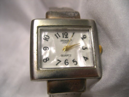 L28, Mondu, Ladies Silver Tone Cuff Watch, mop Face, Casual  w/b - $9.99